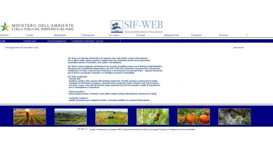 Home page del Sistema Informativo Fitosanitari