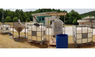 Impianto pilota per acqua potabile con sistema di ultrafiltrazione assistita da polimeri