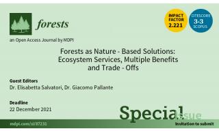 Locandina rivista Forests